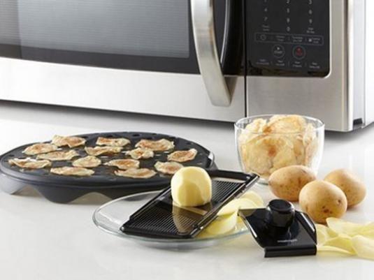 Як зробити чіпси в мікрохвильовці?